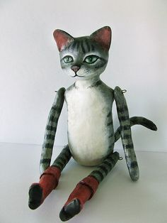 puss in boots    made of papier mâché