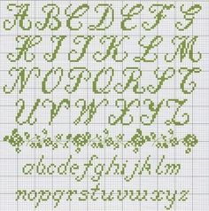 cross stitch alphabets - Google Search