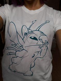 Women's Tshirt with Stitch print from Disney's Lilo by zenohtee, £13.99