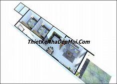 mat bang nha cap 4 5x20 2 phong ngu chi diep Studio Apartment Floor Plans, My House Plans, House