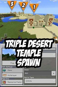 Triple Desert Temple Spawn! Seed: AVX