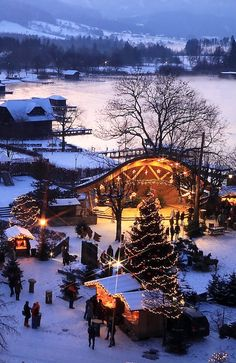 Christmas market at Strobl am Wolfgangsee, Austria