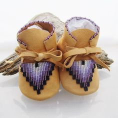 Native American Beaded Baby Moccasins/Shoes by AuthenticNativeMade, $58.00