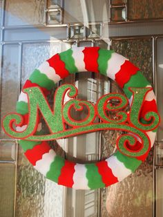 Noel + Scalloped Felt Wreath