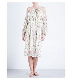 ZIMMERMANN Eden Laced Silk Dress. #zimmermann #cloth #dresses