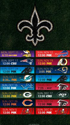 New Orleans Saints 2017 I-Phone & Android Schedule