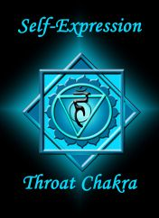 °Throat Chakra ~ Self Expression • I Speak Clearly & Freely, I Speak only with Words of Love, I Speak Up for Myself, I Speak Words of Truth.