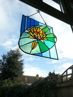 Stained glass suncatcher vintage looking by StainedGlassMarvels, £36.00