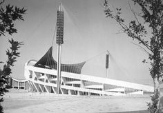 Takhti Stadium  Location : Tehran  Architect : Jahangir Darvishbani  Date : 1968–1973  Area of Field: 8,250 m2 (110 m × 75 m)