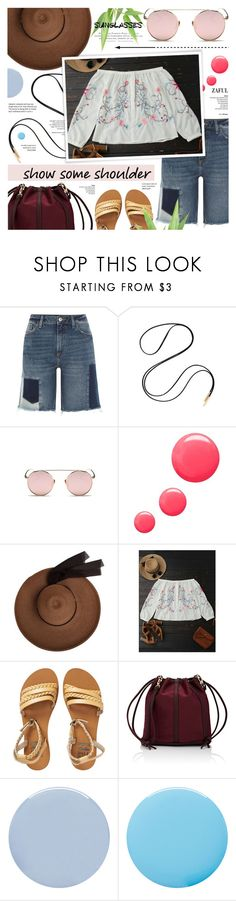 """Zaful 60"" by cly88 ❤ liked on Polyvore featuring River Island, Topshop, Theo, Billabong, Deux Lux, Deborah Lippmann and Smith & Cult"