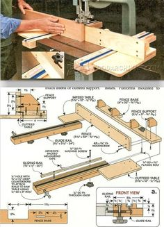 Band Saw Fence Plans - Band Saw Tips, Jigs and Fixtures #WoodworkTechniques