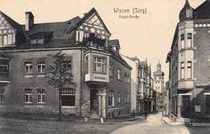 HW 006 - links die hübsche Apotheke. Rechts das Geschäftshaus Alsen´s Mia - mit Maggi-Werbung ! Foto um 1925