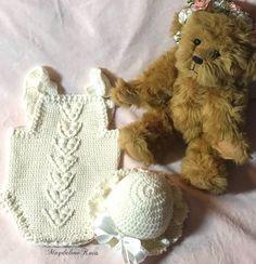 Handmade Baby, Handmade Clothes, Newborn Crochet, Crochet Baby, Bobble Stitch, Baby Bonnets, Baby Sandals, Sweater Set, Lambs