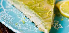 Lemon Cashew Matcha Cheesecake (It's non-dairy, raw and vegan!)