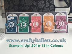 Stampin Up 2016-18 In Colours