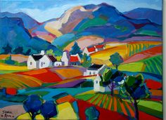 Isabel le Roux - South African Artist: Landscapes Gallery Artist Painting, Colorful Art, Painting Gallery, Art Painting, Dad Art, Impressionist Art, Painting, South African Art, South African Artists