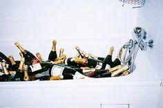 Champagne bubble bath -- Gatsby party! @H A L E Y |  V A N  |  L I E W Peterson @Caitlin Burton Lancon @Aimée Gillespie Marie