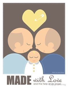 2 Men & a Baby by lisajaynemurray.  A special kind of gift idea for a special kind of family