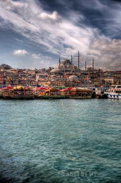 Istanbul Eminonu from boat
