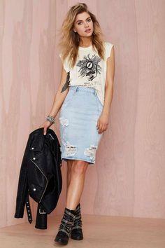 One Teaspoon Freelove Denim Skirt - Denim | Skirts | Nasty Gal Denim | One Teaspoon | Bottoms