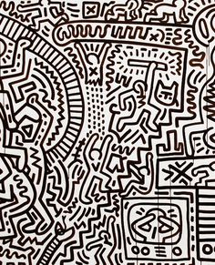 A detail from the Matrix, by Keith Haring, 1983. The entire piece is over 30 foot long, material ink on paper. / Google