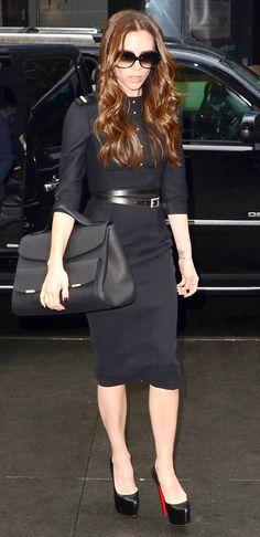 "Victoria Beckham carries an oversize satchel // May cause ""Poshitis"" // #handbags"
