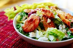Buffalo Chicken Salad | The Pioneer Woman Cooks | Ree Drummond.  I added chopped celery and craisins, and this may be one of our favorite salads to date.