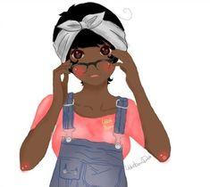 Black Anime Characters and Other Goodies — OC: Bunni/Ken by ~CinnamorollChii | via Tumblr