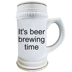 Gift for husband,Beer Gift for Boyfriend, It's beer brewing time, Beer Mug,Gifts for Men, Anniversary Gifts,Gift for Him