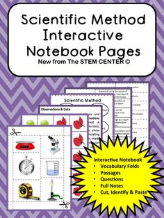 The Scientific Method Interactive Notebook Section has a lot (39 PAGES) to offer! Before using Interactive Science Notebooks, my students got lost in writing and not comprehending the science. The INBs allow the students to keep a neat, interactive, functional, and yes; a fun notebook.
