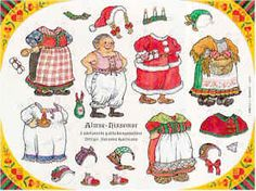 Paper doll: Mrs Santa