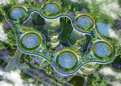 Interesting concept for a futuristic and environmentally friendly architecture. 2