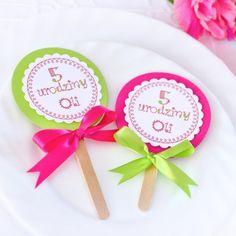 Lizaczki - Zaproszenia urodzinowe dla dzieci