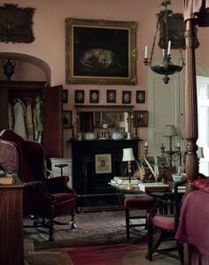 Untouched (since 1964) english country style interior of Sir Albert Richardson (1880-1964), leading English architect. His Bedfordshire home. Christies action 18/19 september 2013 images by Simon Upton.