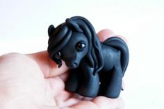 Black Stallion and Grey Mare in Love Sculptures by Tumble Creatures | eBay