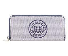 Portafoglio in pvc con logo blu - 20x10x3 cm