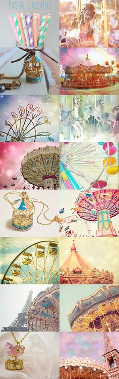 *~Pastel Carousel~* by Kady J Johnson on Etsy--Pinned with TreasuryPin.com