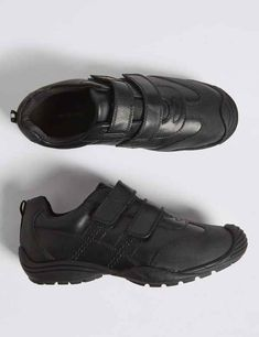 Buy the Kids' Leather Toe Bumper School Shoes Small - 10 Large) from Marks and Spencer's range. Boys School Shoes, Non Iron Shirts, Slim Fit Polo Shirts, Small Wardrobe, Black 13, Experience Gifts, School Uniform, Leather Working, Leather Shoes