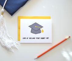 Graduation Card  Funny Graduation Card  by RowHouse14 on Etsy