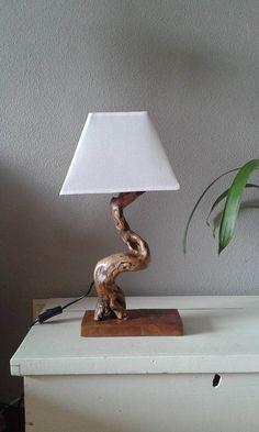 Lámpara de madera de deriva 1