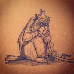 Little Cambodian Monkey caricature eating some sort of plant Google reference. #Cambodia #monkey #svaa #ape #primeape #oldworldmonkey #watphnom #drawing #sketch #doodle #design #art #illustration #hungry #asia #365animals #tannergarlick by tannergarlick