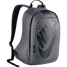 Nike Hayward Futura M 2.0 Backpack Laptop Backpack ($55) ❤ liked on Polyvore featuring bags, backpacks, grey, laptop backpacks, nike bag, polyester backpack, backpack laptop bag and gray bag