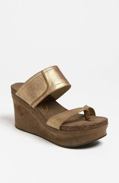 OTBT 'Brookfield' Slide Sandal in Gold | Nordstrom size 8.5