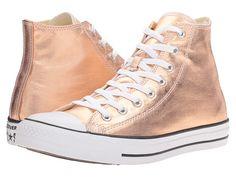 Converse Chuck Taylor® All Star® Metallic Canvas Hi - Metallic Sunset Glow/White - $65 at Zappo's