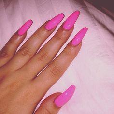 Pink Barbie nails