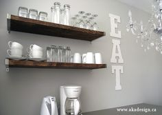 Giant Glitter EAT Sign - http://akadesign.ca/giant-glitter-eat-sign/