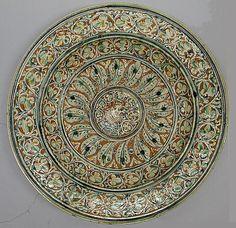 Plate; Italian, lead glazed earthenware, ca 1580-1600