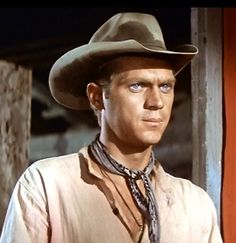 "Steve McQueen as Vin Tanner in The Magnificent Seven (1960) ""Home, none. Wife, none. Kids.....none."""