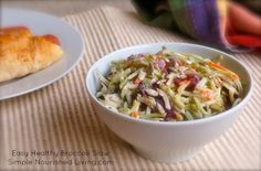 Easy Healthy Broccoli Slaw | Weight Watchers Friendly Recipes | 2 PointsPlus