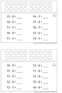 Stubchen Öğrenme: Mental Aritmetik artı ve eksi ZR 20 Cvc Worksheets, 2nd Grade Math Worksheets, Maths Algebra, 1st Grade Math, Addition And Subtraction Practice, Simple Math, Math For Kids, Math Skills, Elementary Math